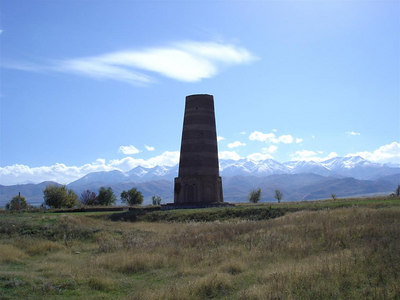 The Burana tower. A reconstructed remnant of what was once a thriving city of thousands on the Silk Road.
