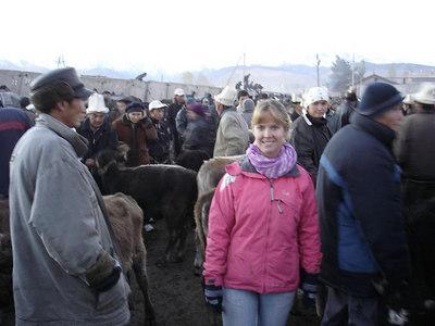 Karakol's weekly animal market.