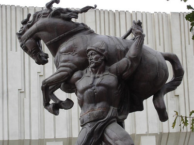 The Kyrgyzs are famous horsemen, but not like this!
