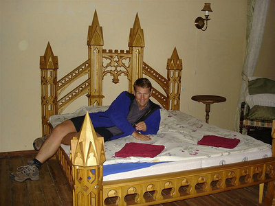'Our' palatial bed - cheaper than a Dorm in Riga!