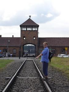 The entrance to Auschwitz II - Birkenhau