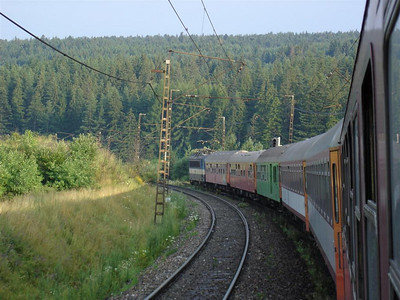 The train from Poprad to Spissky Nova Vec