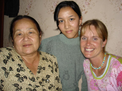 Zakir's English teacher, his sister Adelle and Nicky