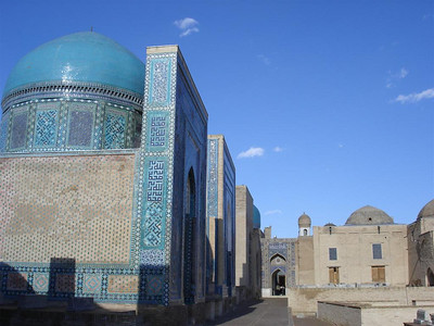 The amazing Shahi Zinda Mausoleum complex in Samarkand