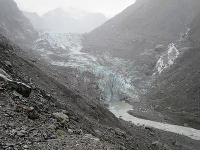 Wandelen naar Fox gletsjer