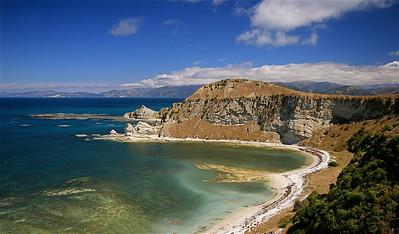 Whaler's Bay, Kaikoura Peninsula, Clifftop Walk. Zuidereiland, Nieuw-Zeeland.