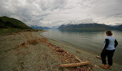 Lake Hawea, Wanaka. Zuidereiland, Nieuw-Zeeland.