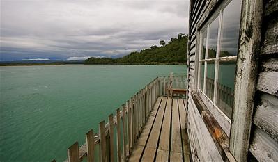 Okarito Lagoon, Westcoast. Zuidereiland, Nieuw-Zeeland.