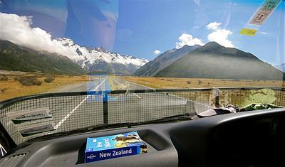 Mount Cook National Park. Zuidereiland, Nieuw-Zeeland.
