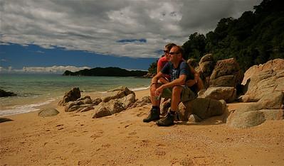 Goat Bay, Abel Tasman National Park. Zuidereiland, Nieuw-Zeeland.