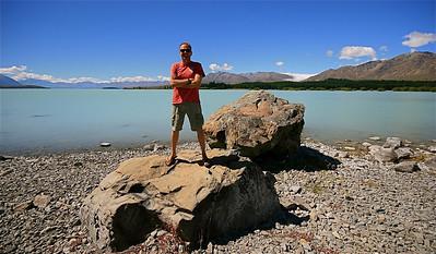 Lake Tekapo, MacKenzie County. Zuidereiland, Nieuw-Zeeland.