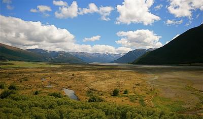 Waimakariri Valley, Arthur's Pass NP. Zuidereiland, Nieuw-Zeeland.