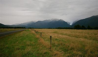 Fox Glacier, Cook Flat Road. Zuidereiland, Nieuw-Zeeland.