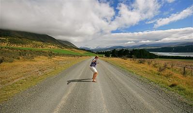 Blackford Road, Rakaia Gorge. Zuidereiland, Nieuw-Zeeland.