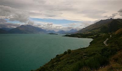 Lake Wakatipu, Glenorchy. Zuidereiland, Nieuw-Zeeland.