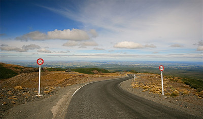 Ohakune Mountain Road, Tongariro National Park. Noordereiland, Nieuw-Zeeland.