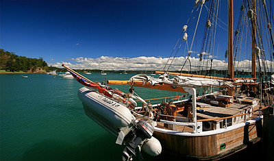 Russell, Bay of Islands, Northland. Noordereiland, Nieuw-Zeeland.
