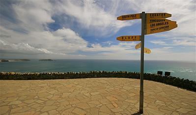 Cape Reinga, The Far North. Noordereiland, Nieuw-Zeeland.