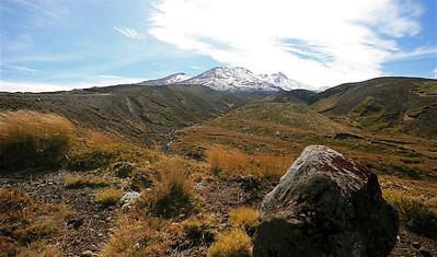 Mount Ruapehu, Tongariro National Park. Noordereiland, Nieuw-Zeeland.