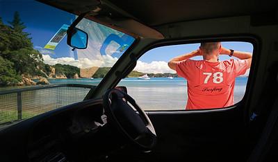 Parekura Bay, Bay of Islands, Northland. Noordereiland, Nieuw-Zeeland.