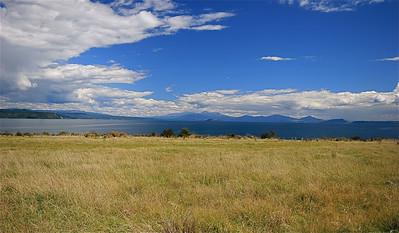 Lake Taupo. Noordereiland, Nieuw-Zeeland.