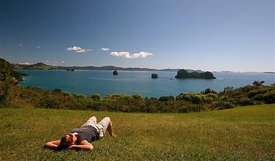 Cathedral Cove Marine Reserve, Hahei, Coromandel Peninsula. Noordereiland, Nieuw-Zeeland.
