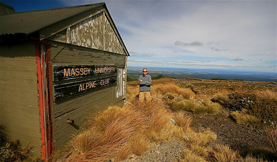 Massey University Alpine Club, Tongariro National Park. Noordereiland, Nieuw-Zeeland.