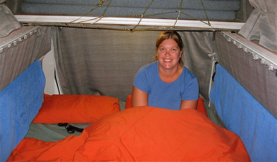 Slapen in de Freedom Camper. Noordereiland, Nieuw-Zeeland.
