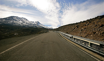 Ohakune Mountain Road, Mount Ruapehu, Tongariro National Park. Noordereiland, Nieuw-Zeeland.