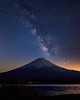 Milky Way Glow Over Mt Fuji  ©2018  Janelle Orth