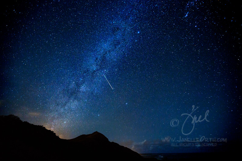 Meteor through Milky Way  ©2014 Janelle Orth