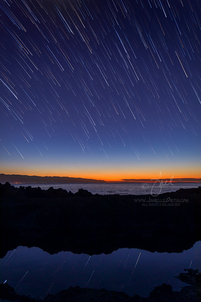 Tide Pool Star Trails  ©2019  Janelle Orth