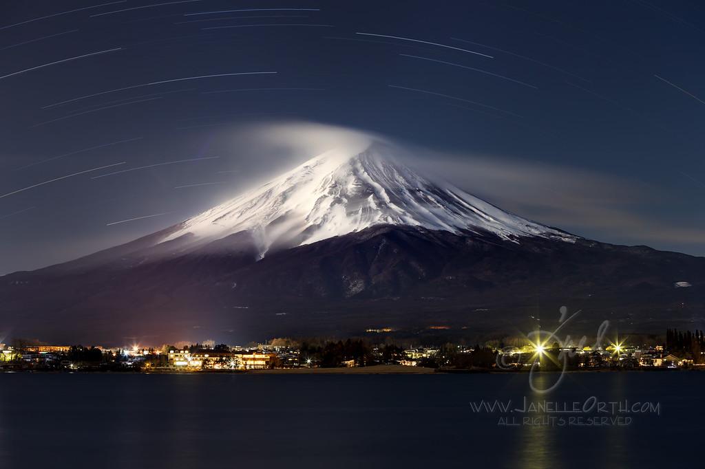 Mt Fuji Star Trails  ©2018  Janelle Orth