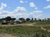 This larger group of homes is in the town of Nimule, across the street from our hotel.