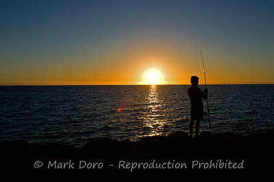 Sunset fishing, Coral Bay, WA