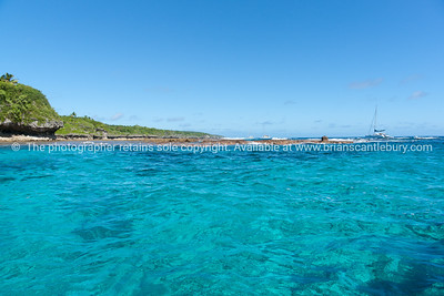 Beautiful turquoise sea from Sir Robert Wharf, Alofi, Niue.