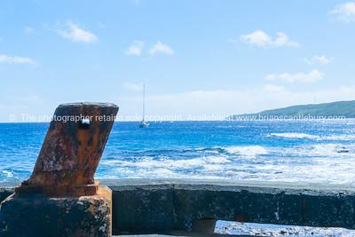 Bollard on Sir Robert Wharf, Alofi, Niue