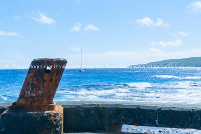 Bollard on Sir Robert Wharf, Alofi, Niue