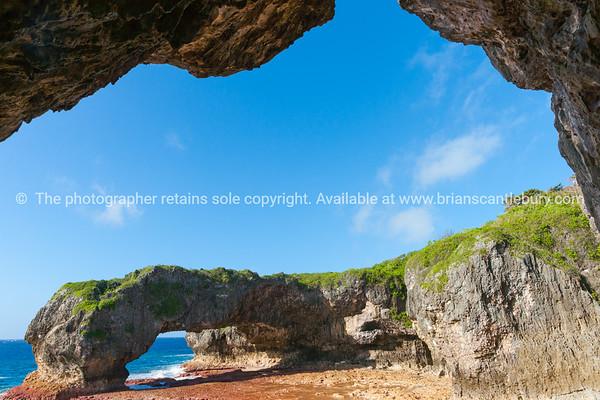 Scenic natural arch, Talava Arch, Niue