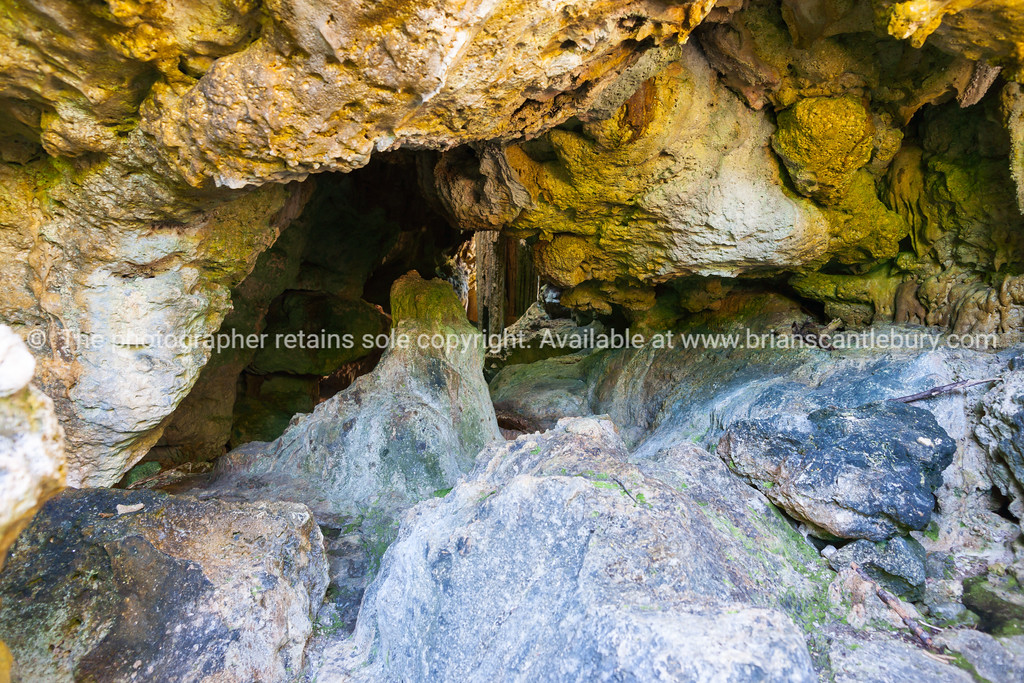 Caves at end of track and entry to viewing of Talava Arch