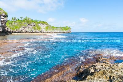 Scenic outlook Opaahi bay on Niue