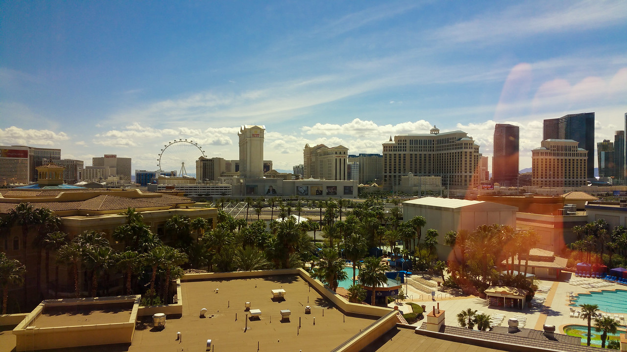 View of the strip from our room at the Rio.