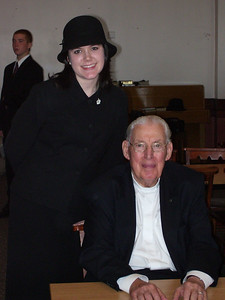 Noelle with Pastor Ian Paisley!
