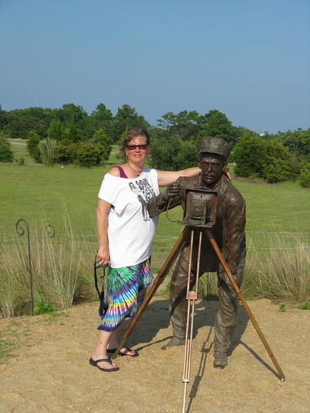 Rebecca and photographer