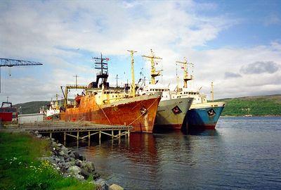 Scheepswerf bij Kirkenes