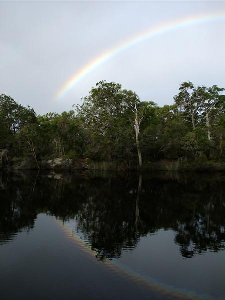 Rainbow at Harry's Hut