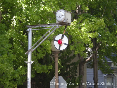 one of the few remaining and operating automatic flagmen