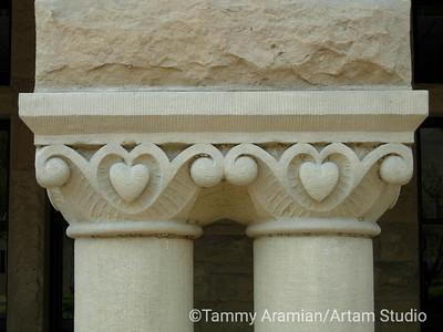 Main Quad column detail, August 2006