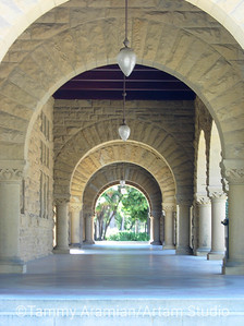 Archways over arcade, Main Quad, May 2006