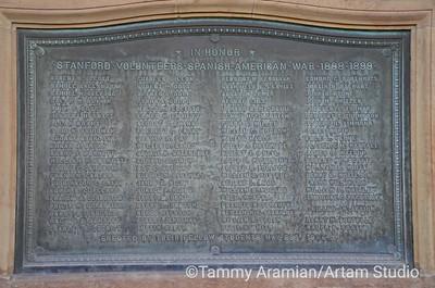 Spanish-American War plaque, Main Quad, June 2012
